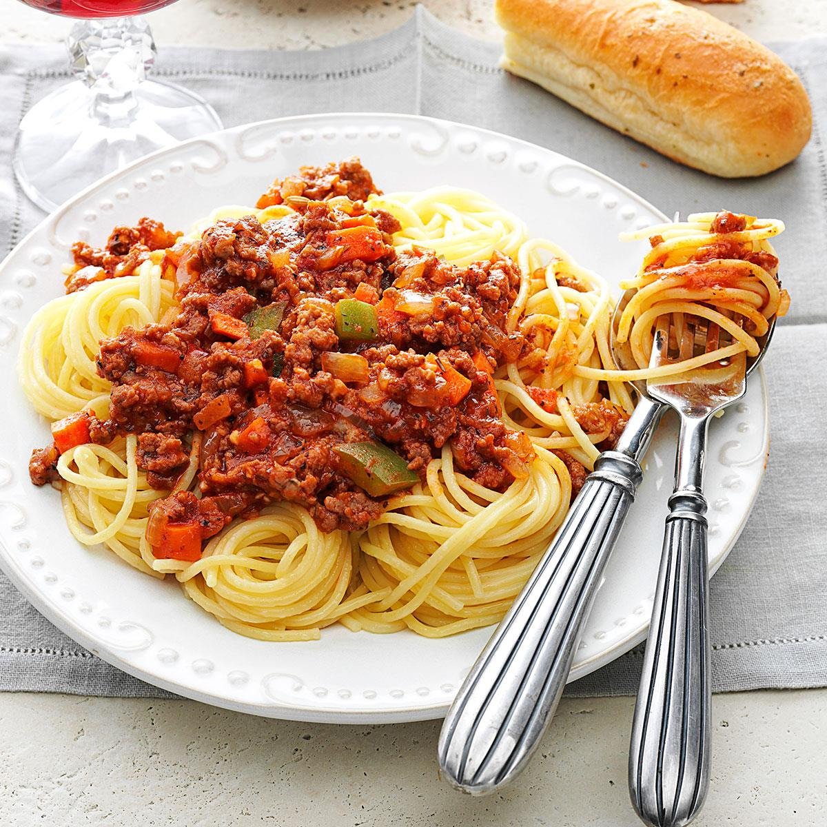 Meat Sauce For Spaghetti Recipe How To Make It Taste Of Home
