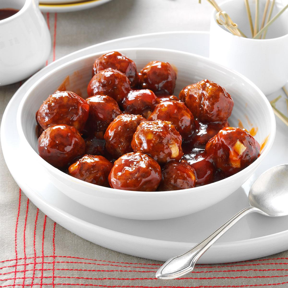 Meatballs in Barbecue Sauce image