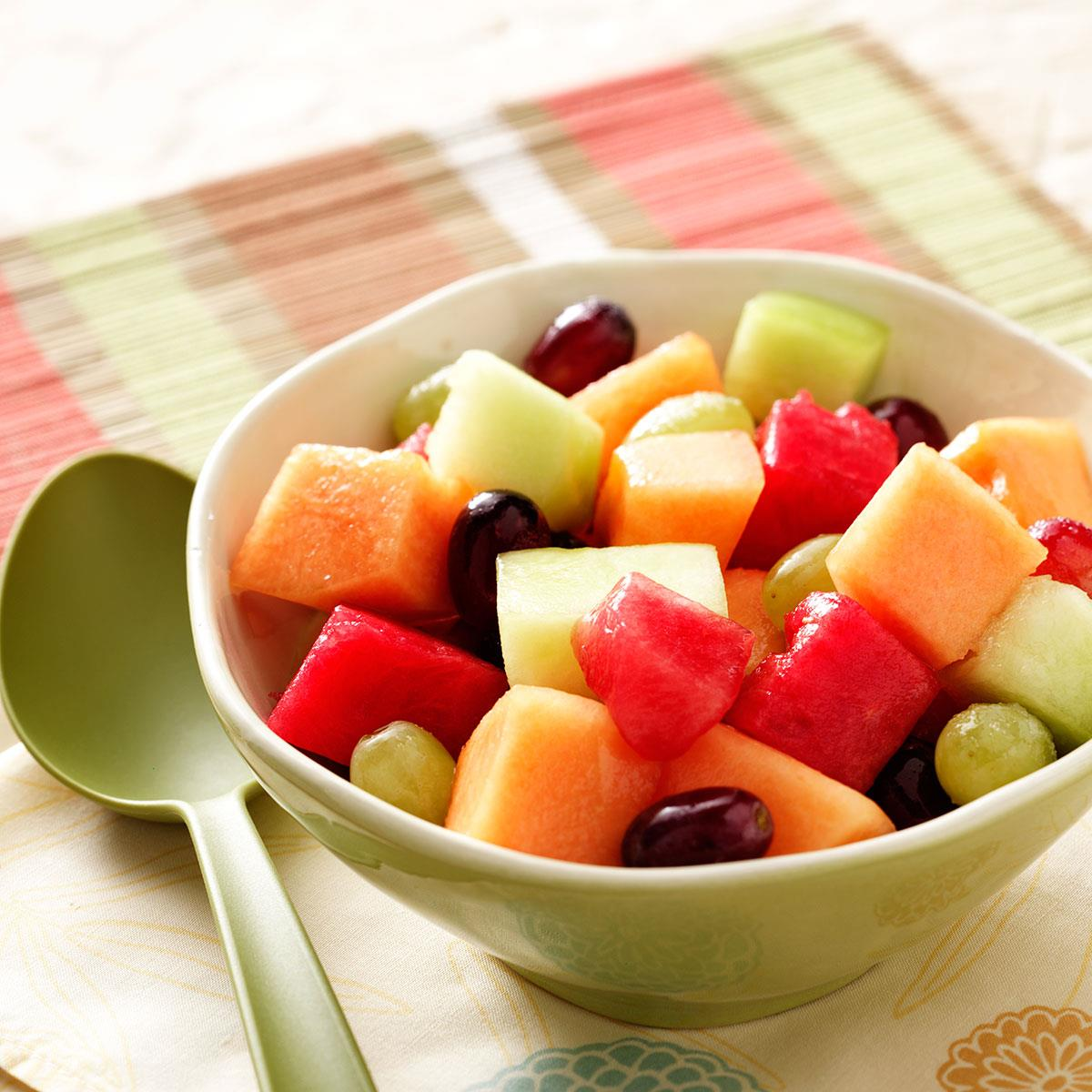 Melon And Grape Salad Recipe Taste Of Home This grilled melon caprese salad is a great starter for the summer months. melon and grape salad