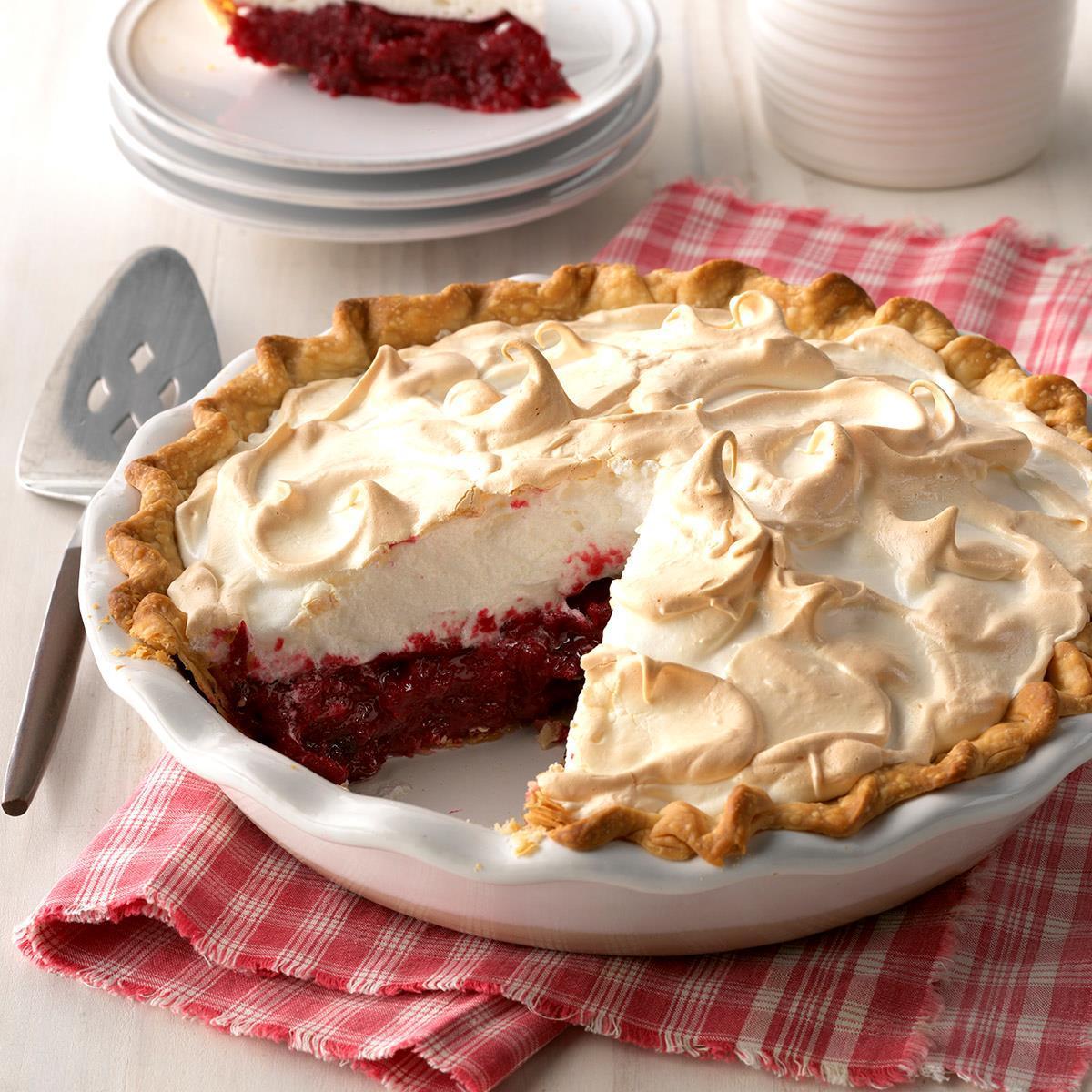 Meringue Cranberry Pie image