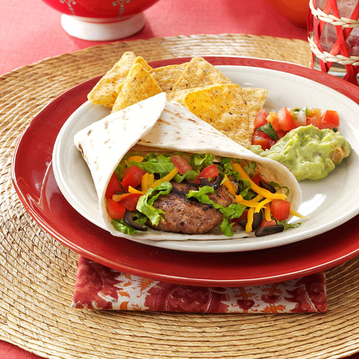 Mexican Beef Burgers