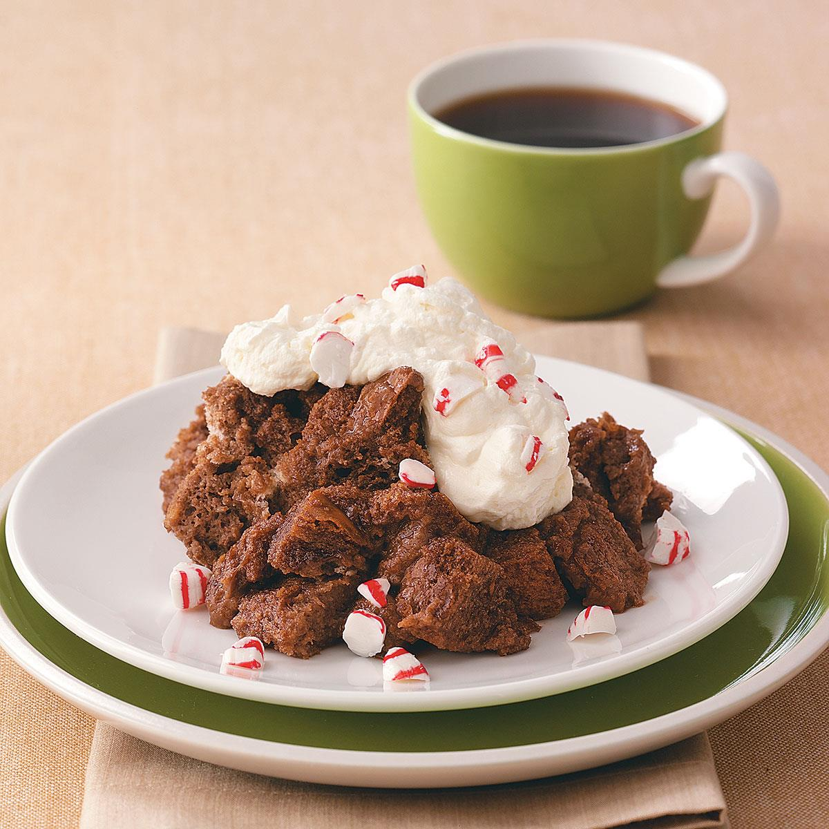 Microwave Chocolate Bread Pudding Recipe How To Make It Taste Of Home