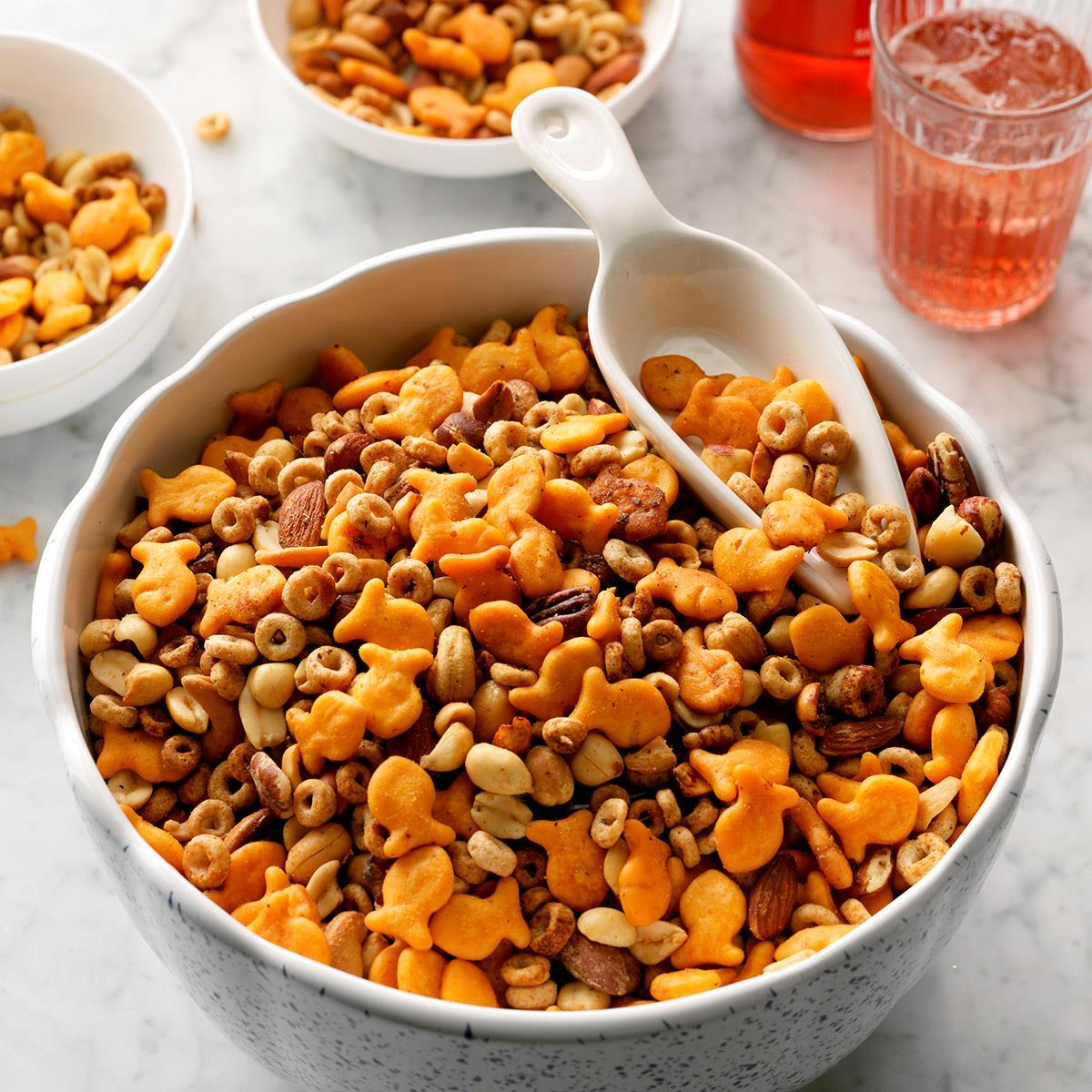Nutty Slow-Cooker Snack Mix