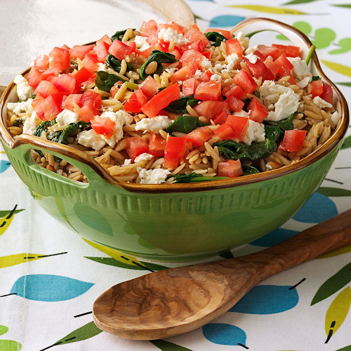 Orzo with Spinach and Pine Nuts image