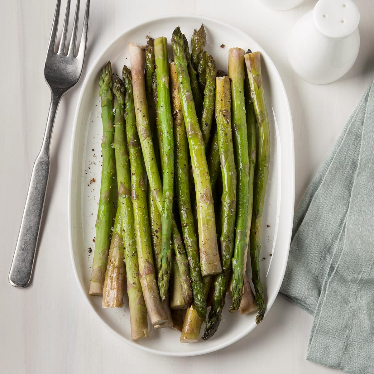 Oven Baked Asparagus Recipe How To Make It Taste Of Home