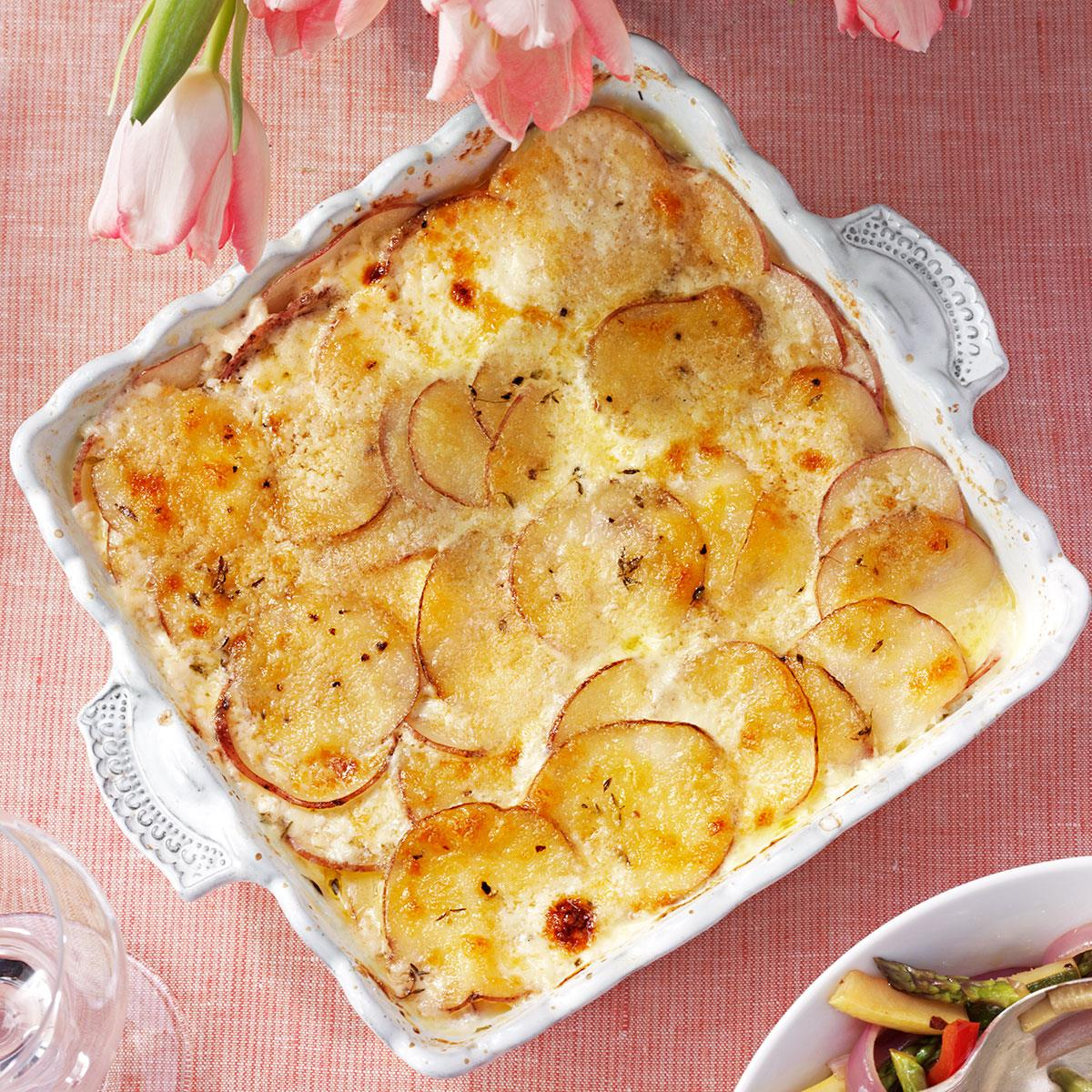 Parmesan Potatoes Au Gratin Recipe How To Make It Taste Of Home
