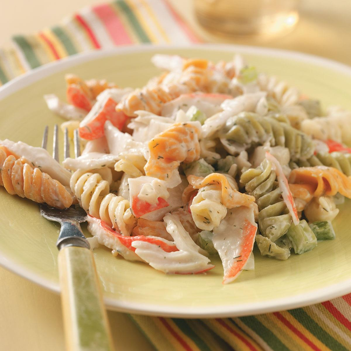 Pasta Crab Salad Recipe How To Make It Taste Of Home