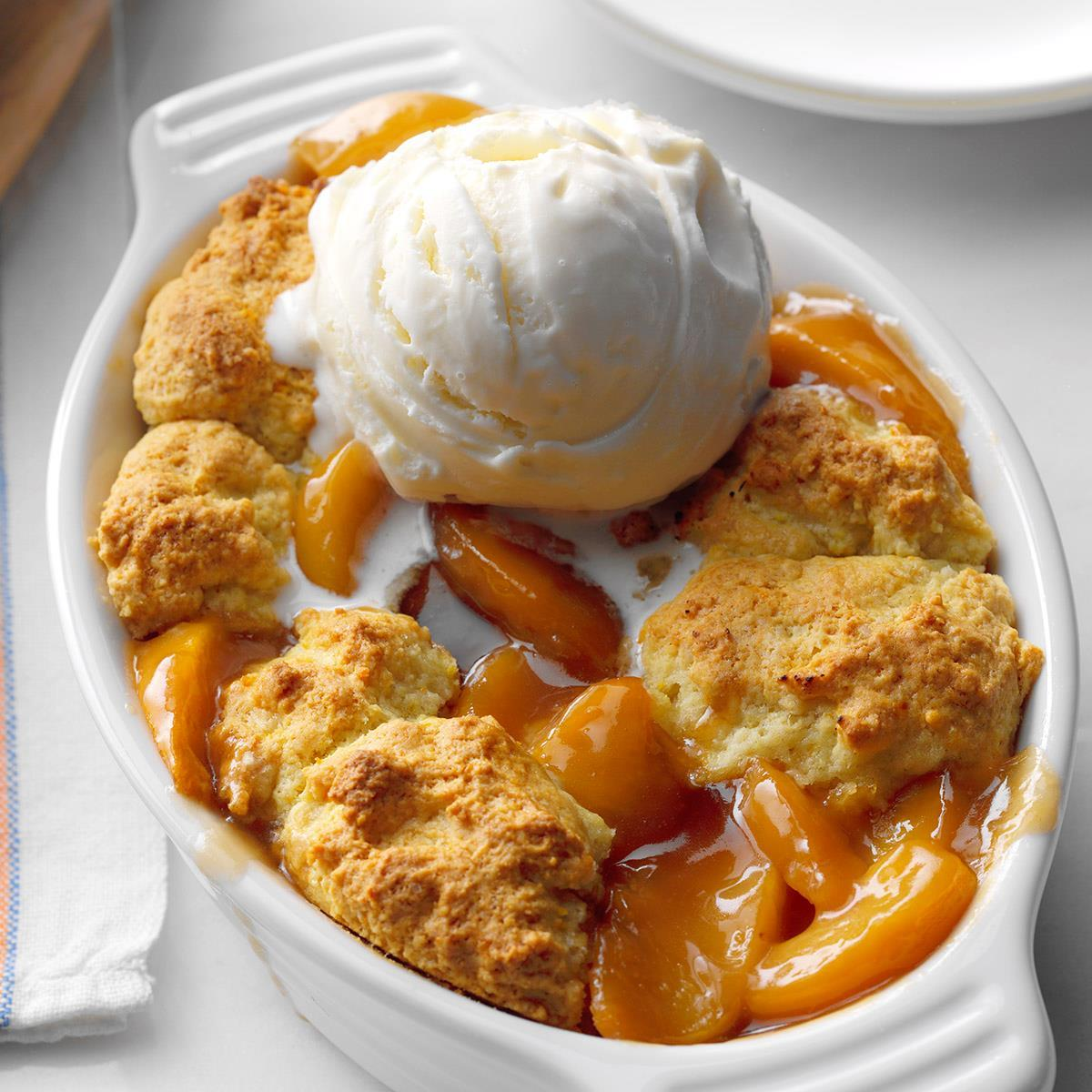 Peach Cobbler for Two Recipe: How to Make It | Taste of Home