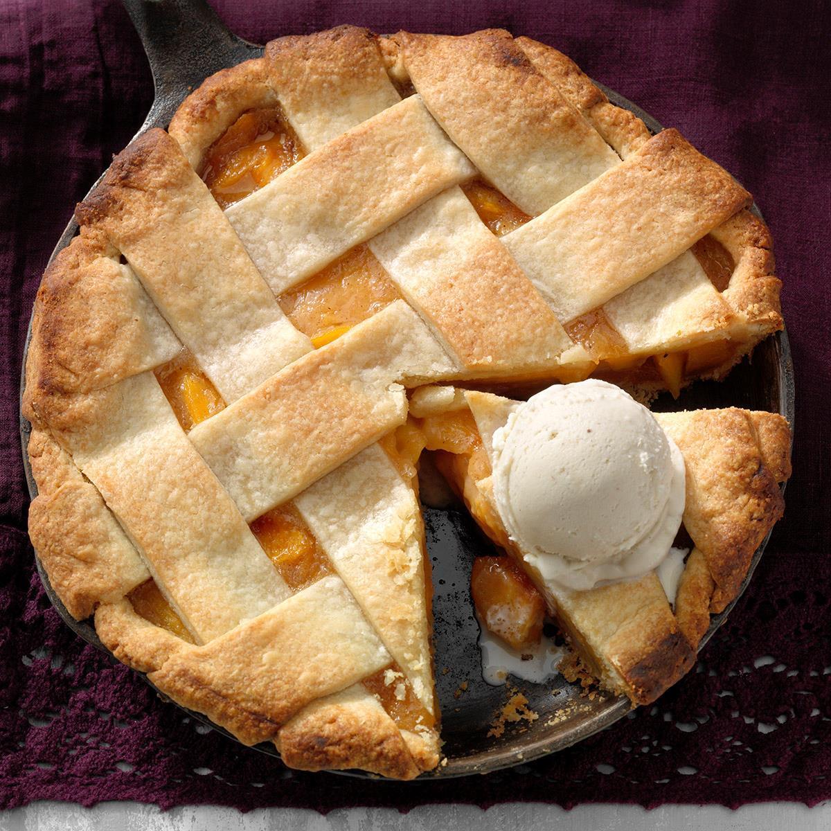 Peach Pie Recipe How To Make It Taste Of Home