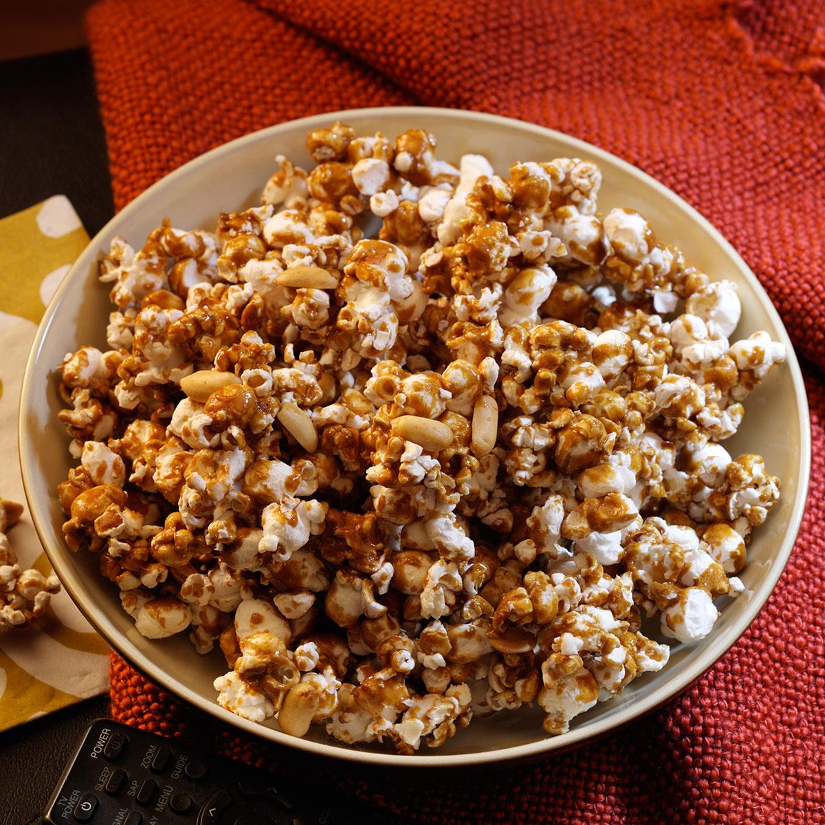 Peanut Caramel Corn Recipe How To Make It Taste Of Home