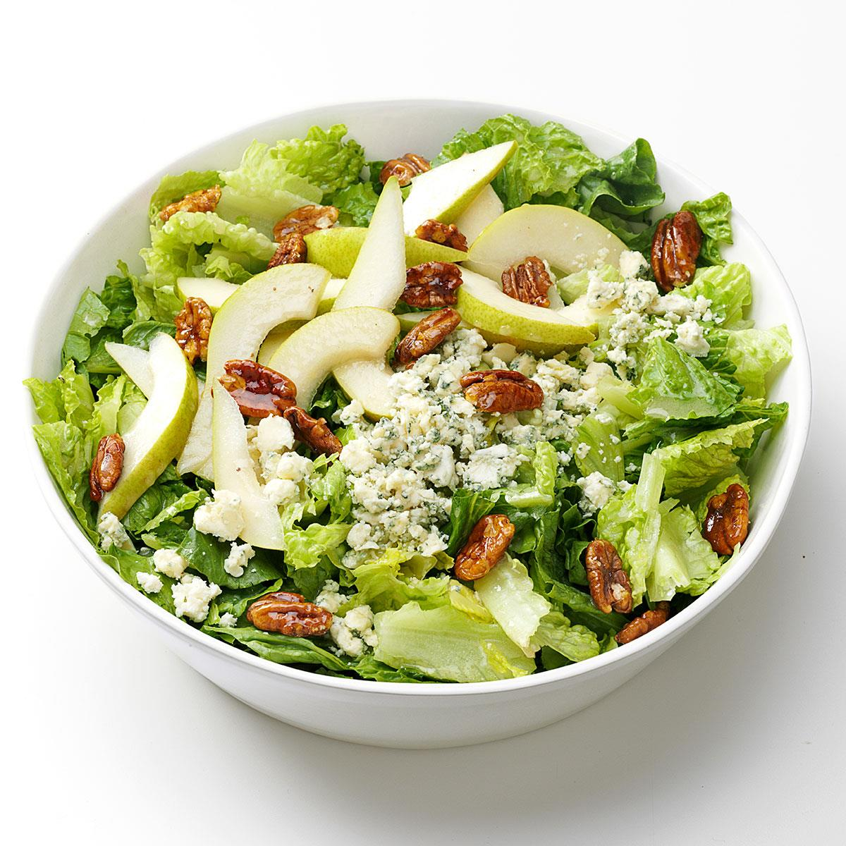 Pear Blue Cheese Salad Recipe How To Make It Taste Of Home