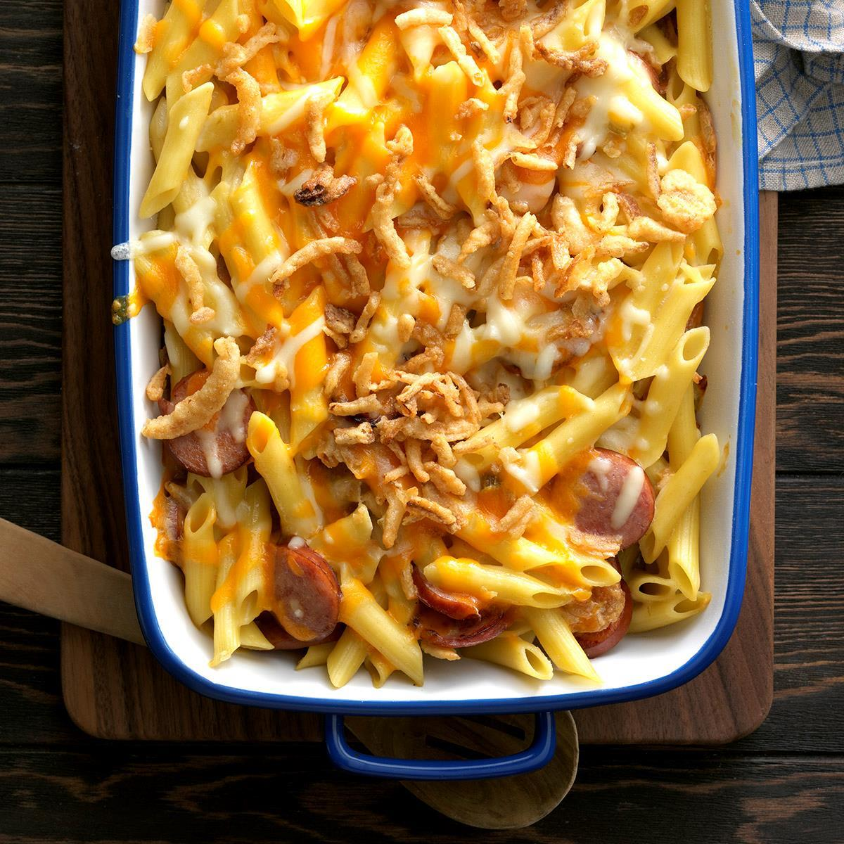 Penne And Smoked Sausage Casserole Recipe How To Make It Taste Of Home