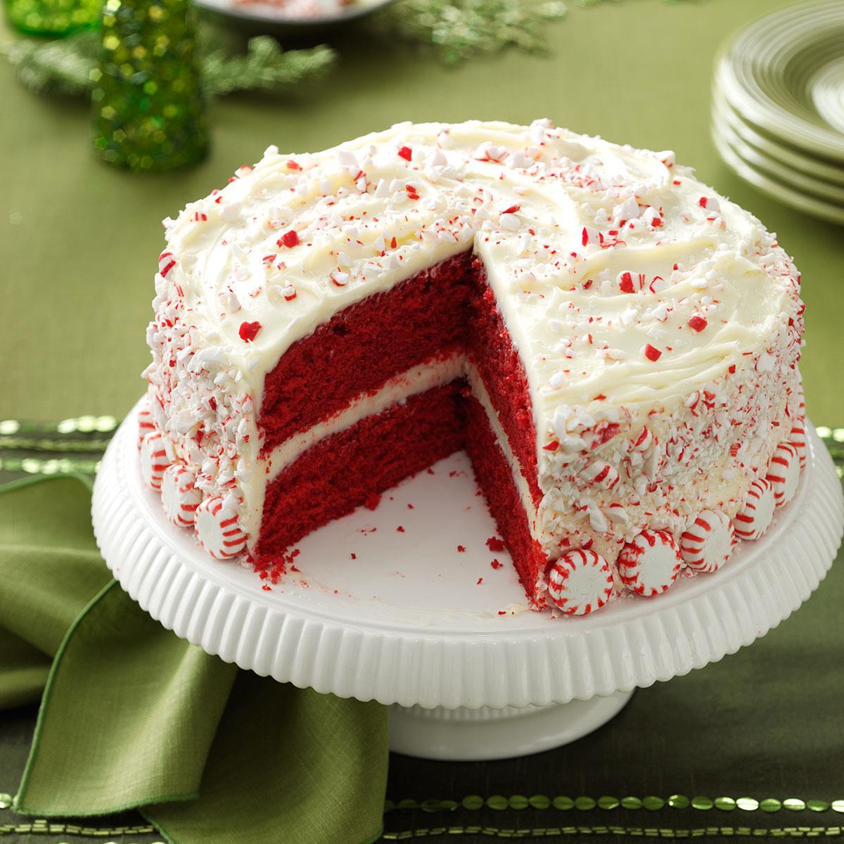Peppermint Red Velvet Cake image