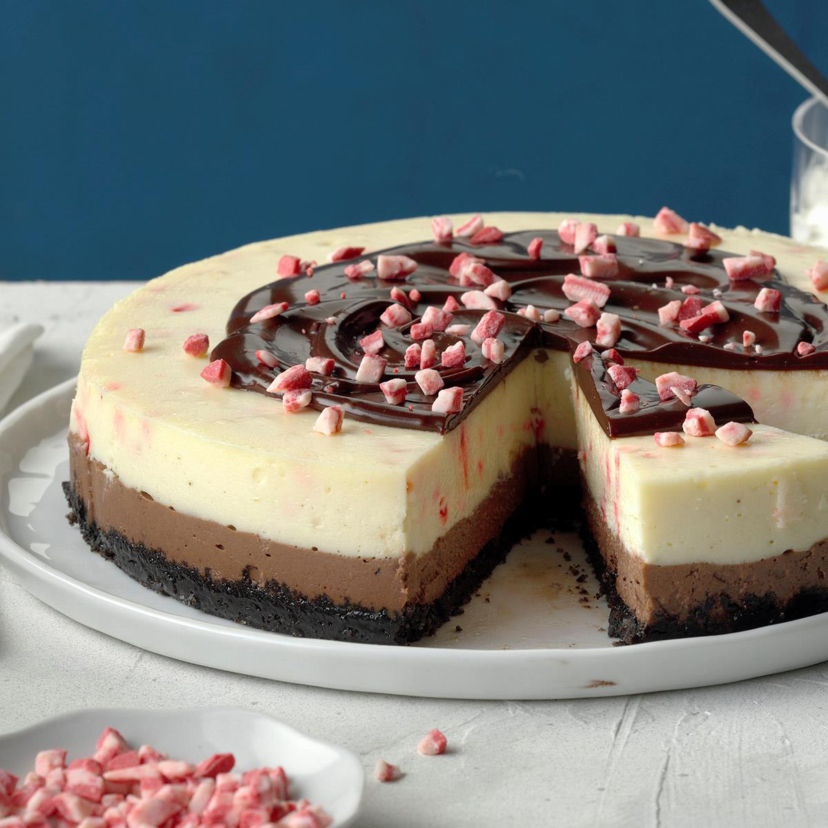 Chocolate Peppermint Cheesecake image