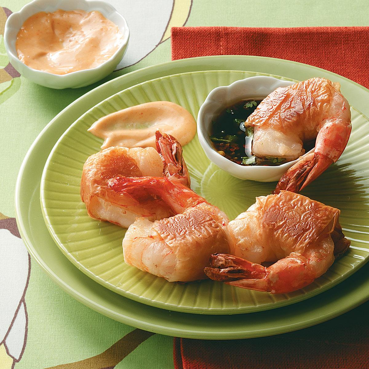 Phyllo Shrimp with Dipping Sauces image