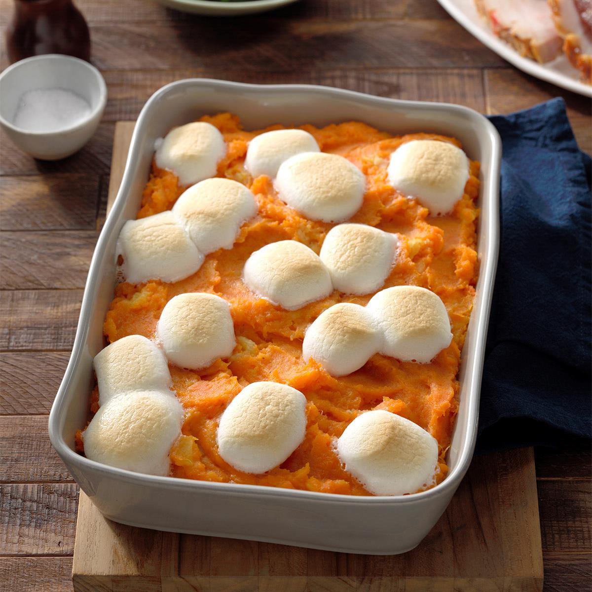 Pineapple Sweet Potato Casserole with Marshmallows Recipe | Taste ...