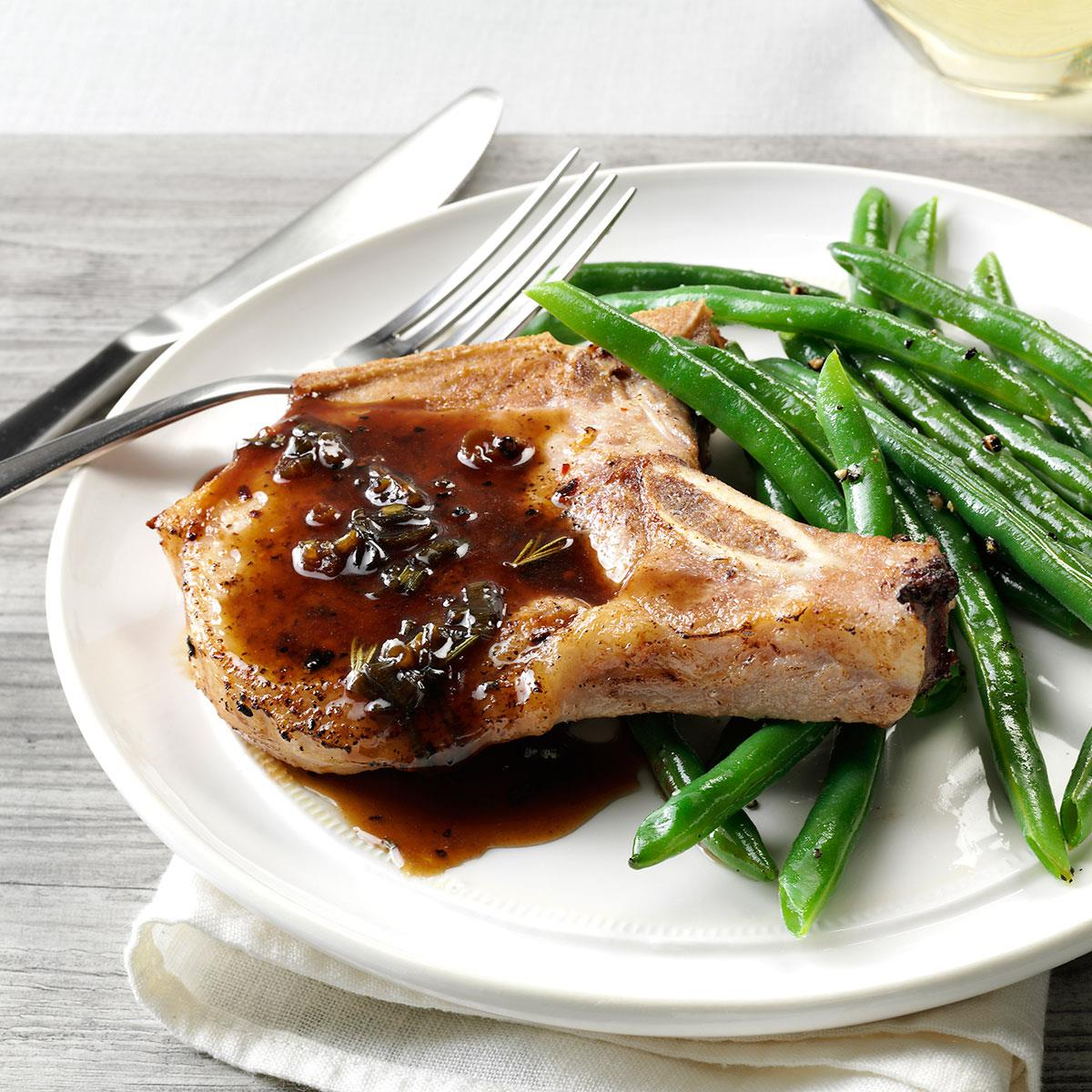 Pork Chops With Honey Balsamic Glaze Recipe How To Make It Taste Of Home
