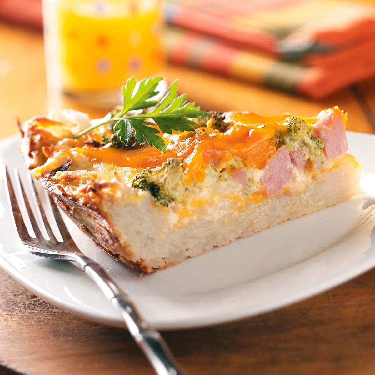 Potato Crust Quiche image