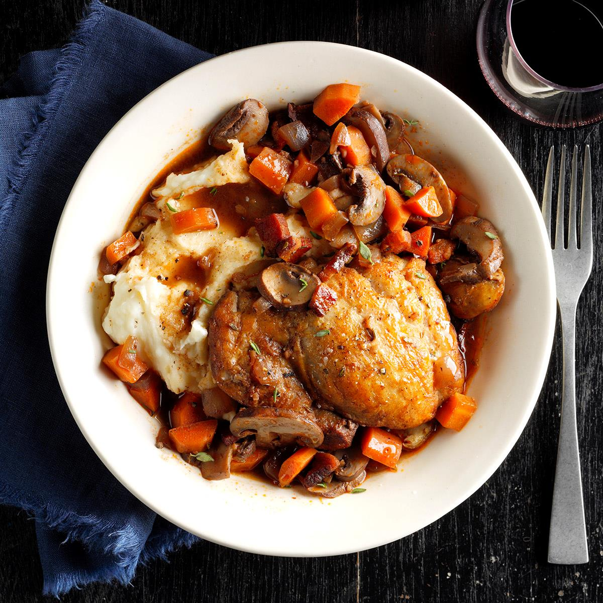 Pressure Cooker Coq Au Vin Recipe How To Make It Taste Of Home