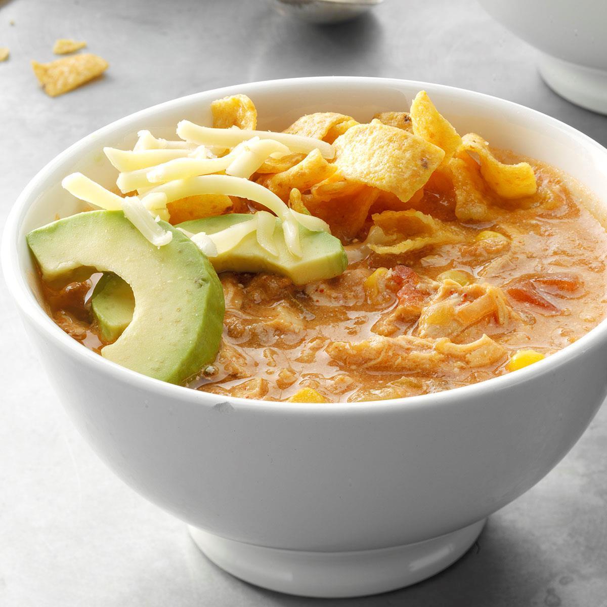 Pressure-Cooker White Chile Chicken Enchilada Soup