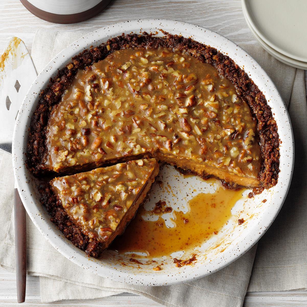 Praline Pumpkin Pecan Pie image
