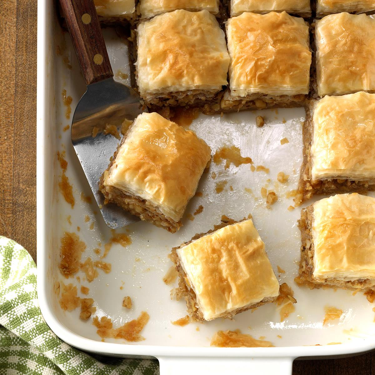 Quick And Easy Baklava Squares Recipe How To Make It Taste Of Home