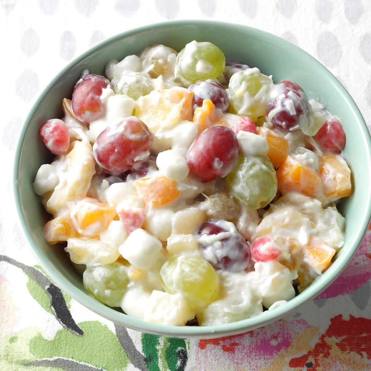 Quick Ambrosia Fruit Salad Recipe How To Make It Taste Of Home