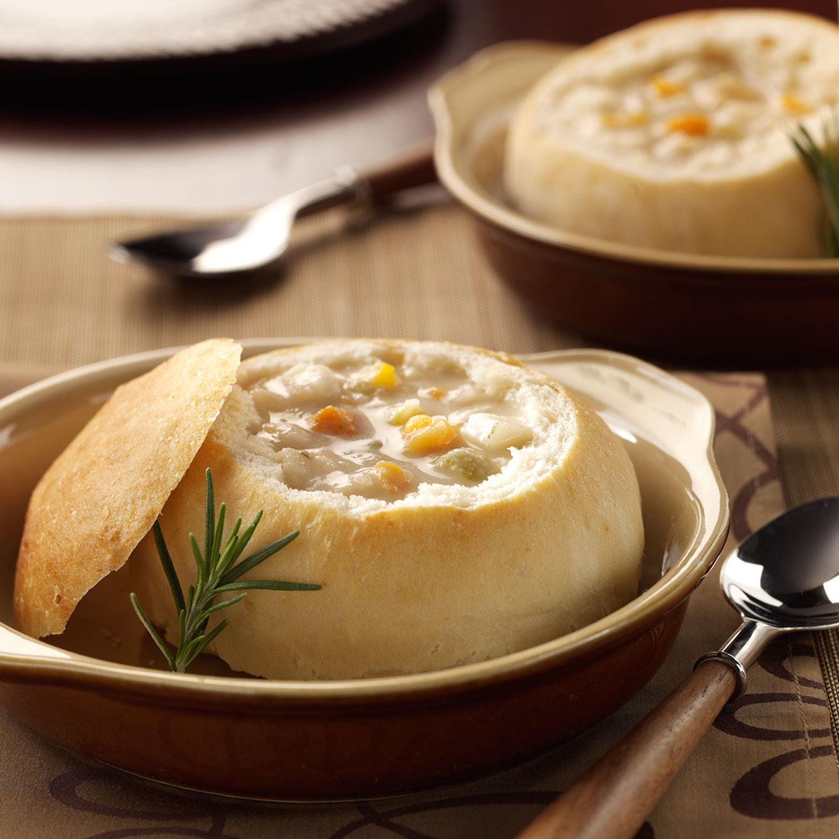 Quick Bread Bowls Recipe How To Make It Taste Of Home