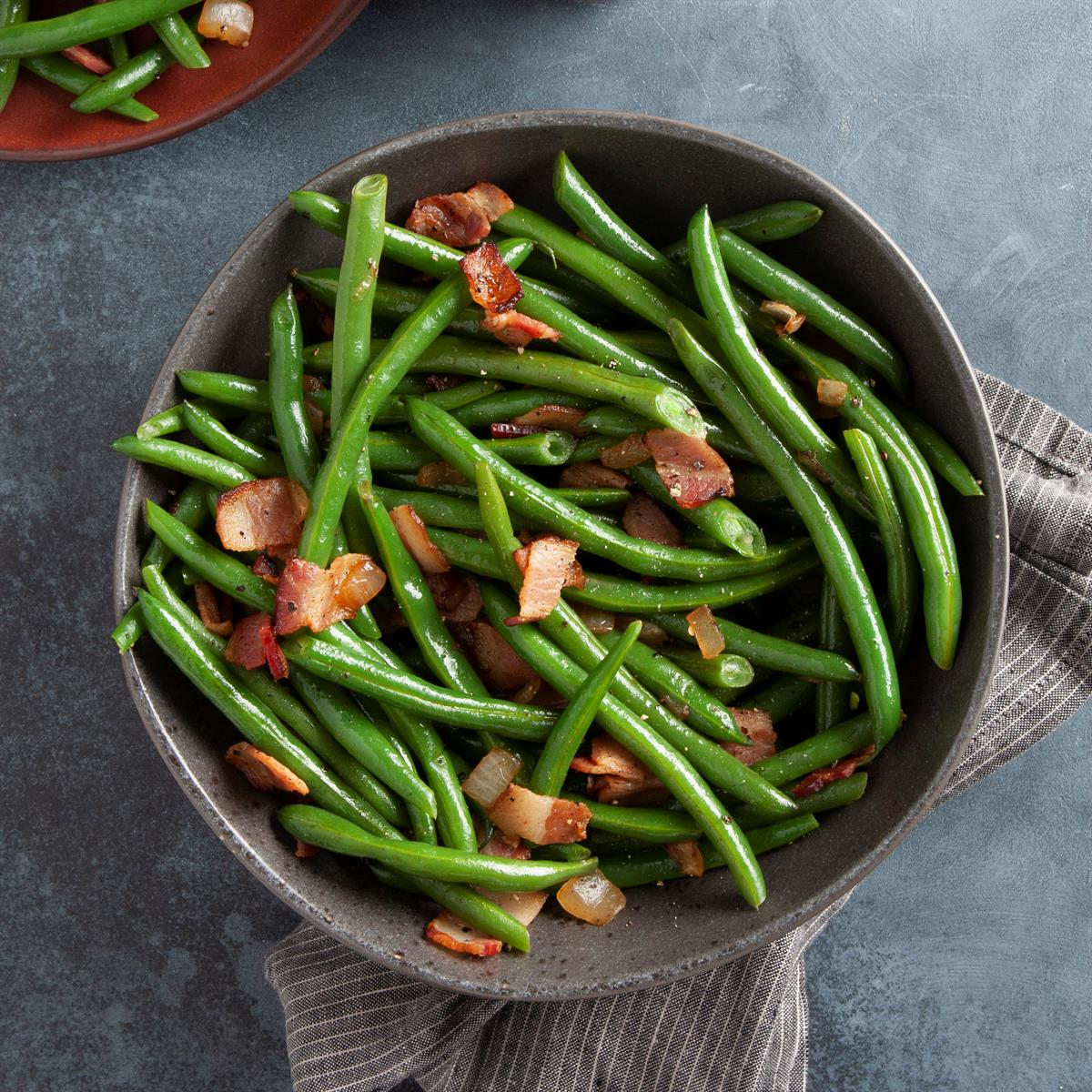 Quick Green Beans With Bacon Recipe How To Make It Taste Of Home