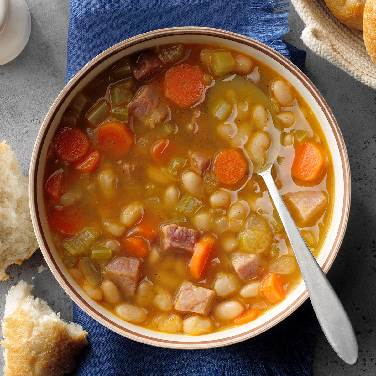 Quick Ham And Bean Soup Recipe How To Make It Taste Of Home