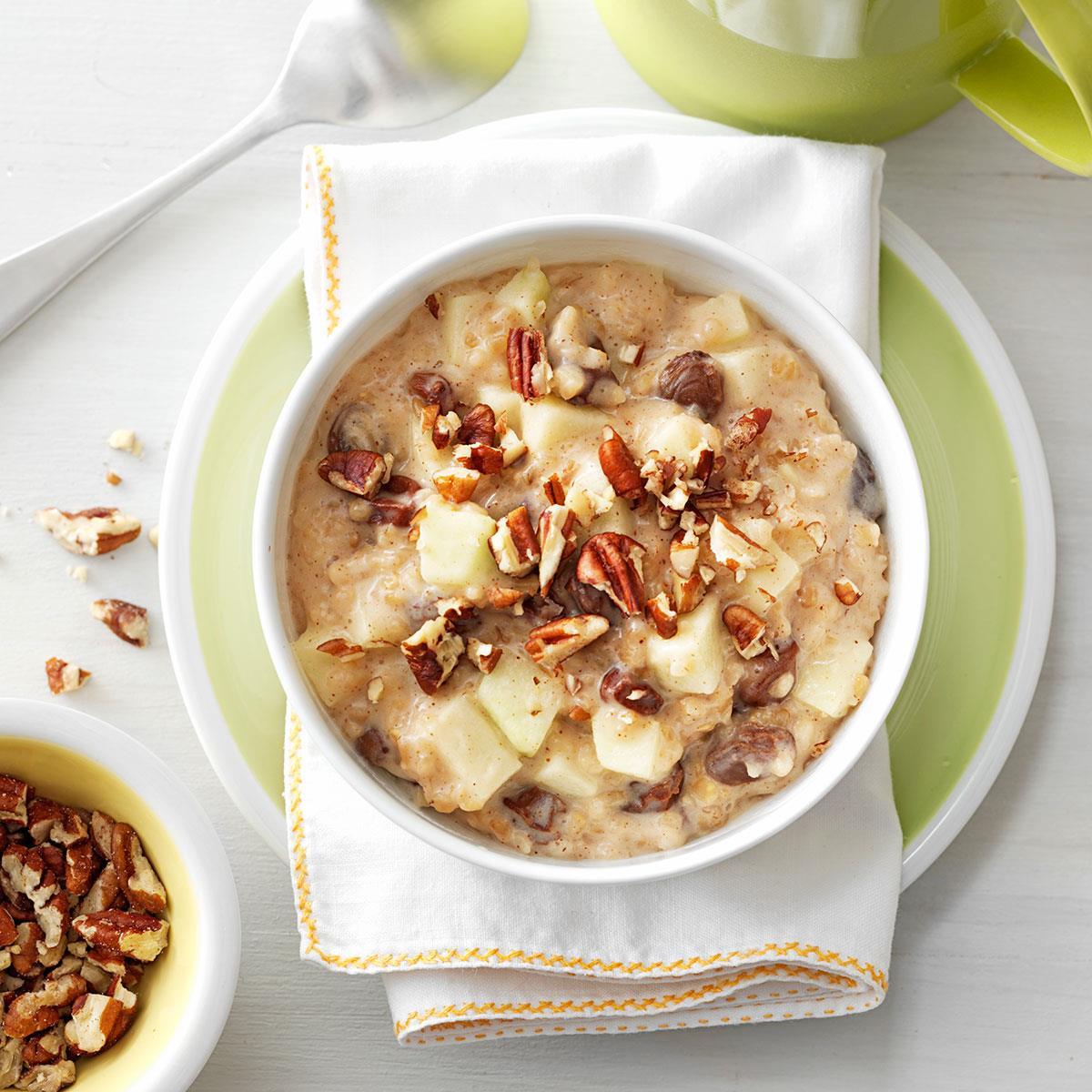 Raisin Nut Oatmeal Recipe | Taste of Home