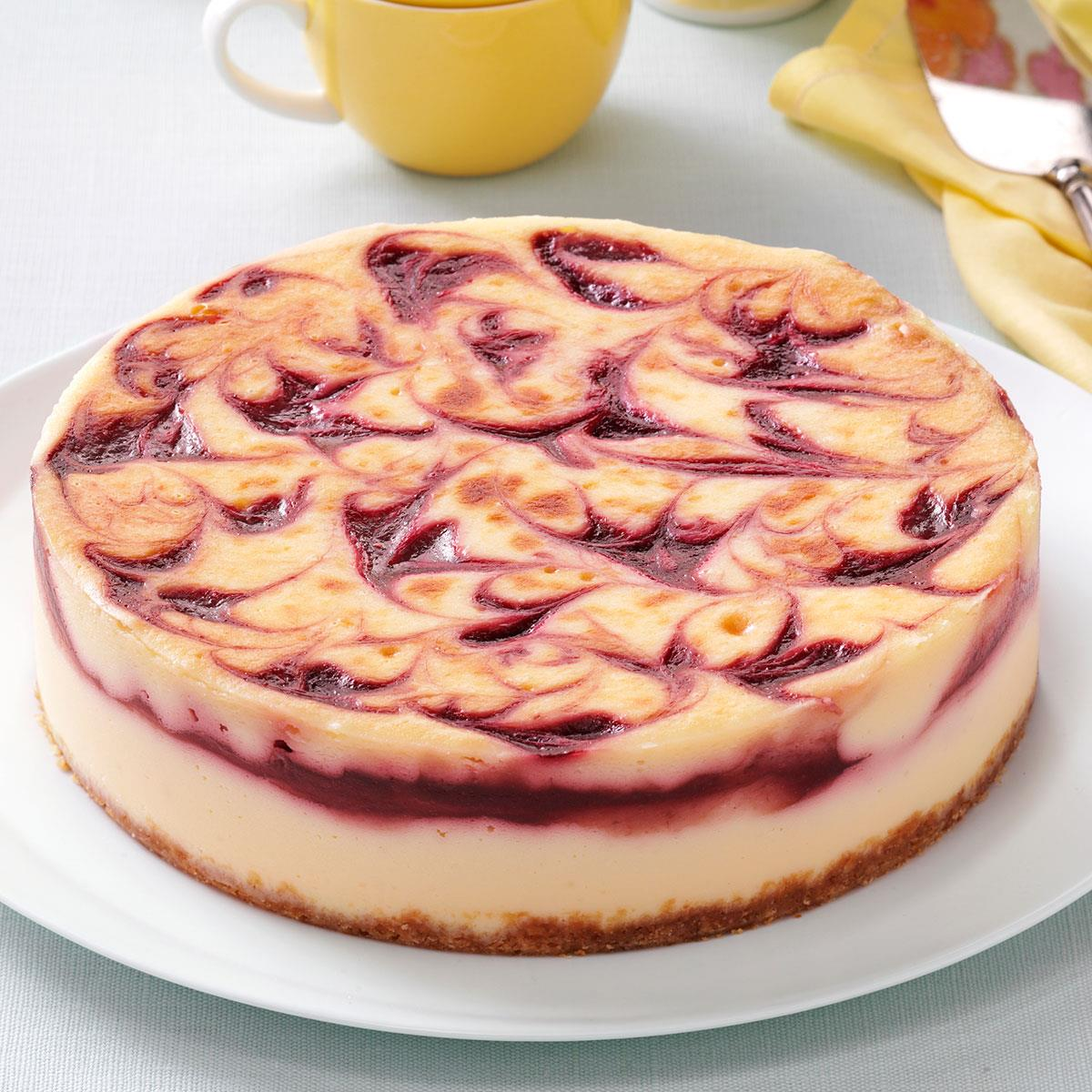 Raspberry White Chocolate Cheesecake Recipe How To Make It Taste Of Home