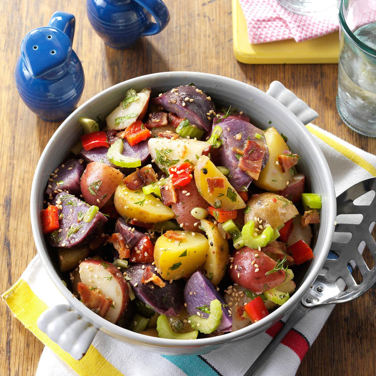 Red, White & Blue Potato Salad image