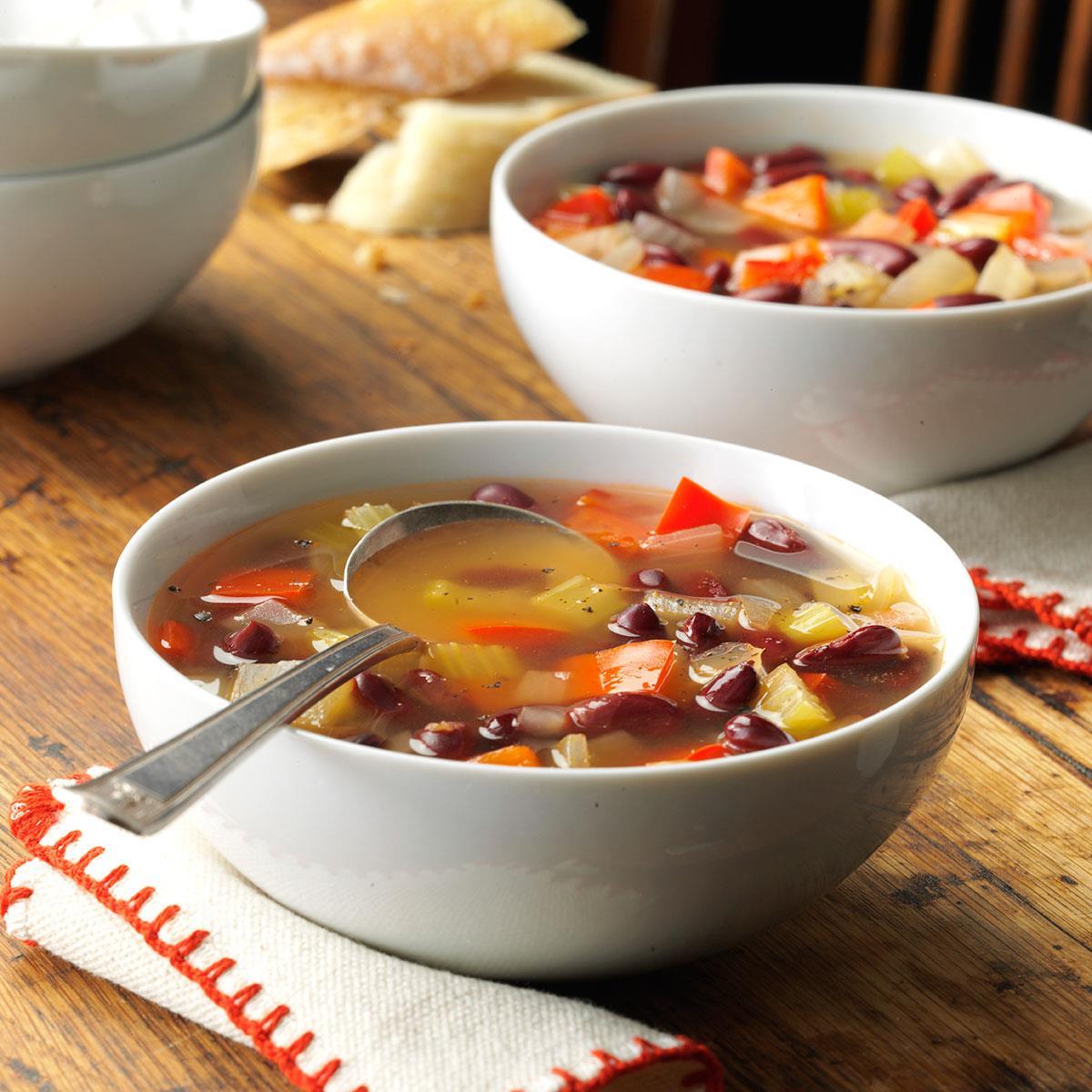Red Bean Vegetable Soup Recipe Taste Of Home
