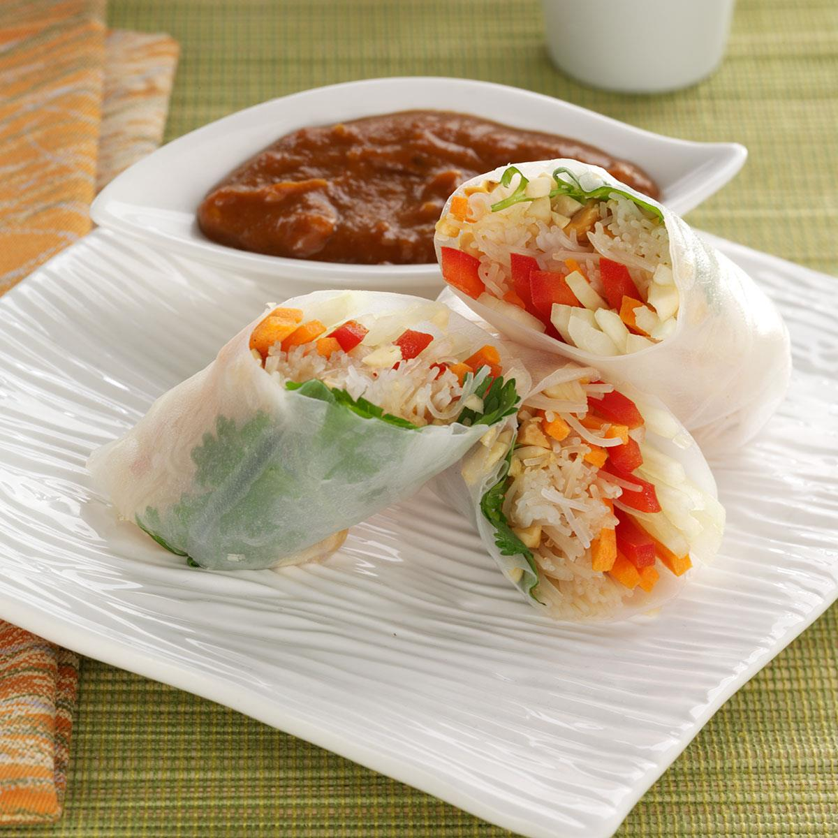 Rice Paper Rolls Recipe How To Make It Taste Of Home