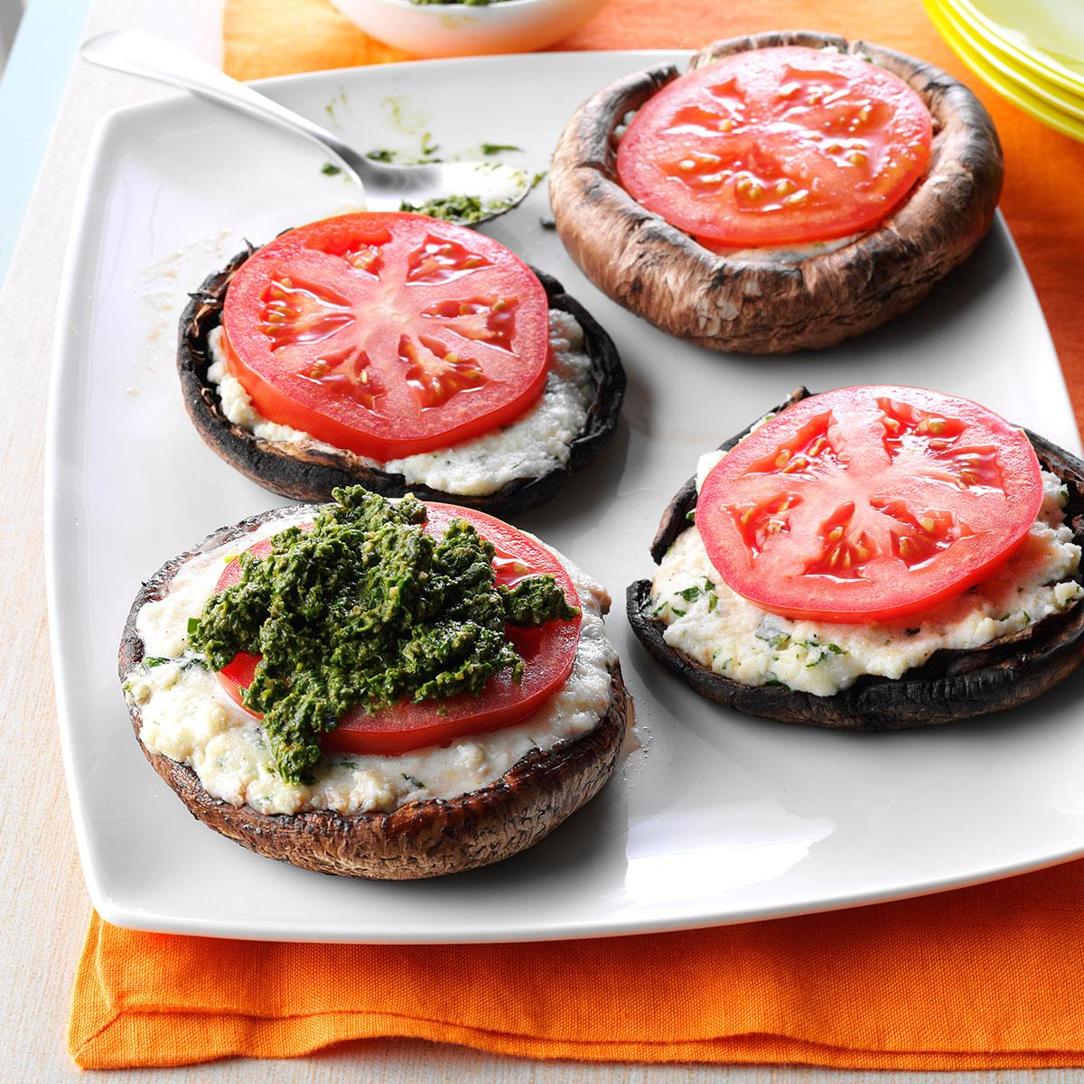 Ricotta Stuffed Portobello Mushrooms Recipe How To Make It Taste Of Home