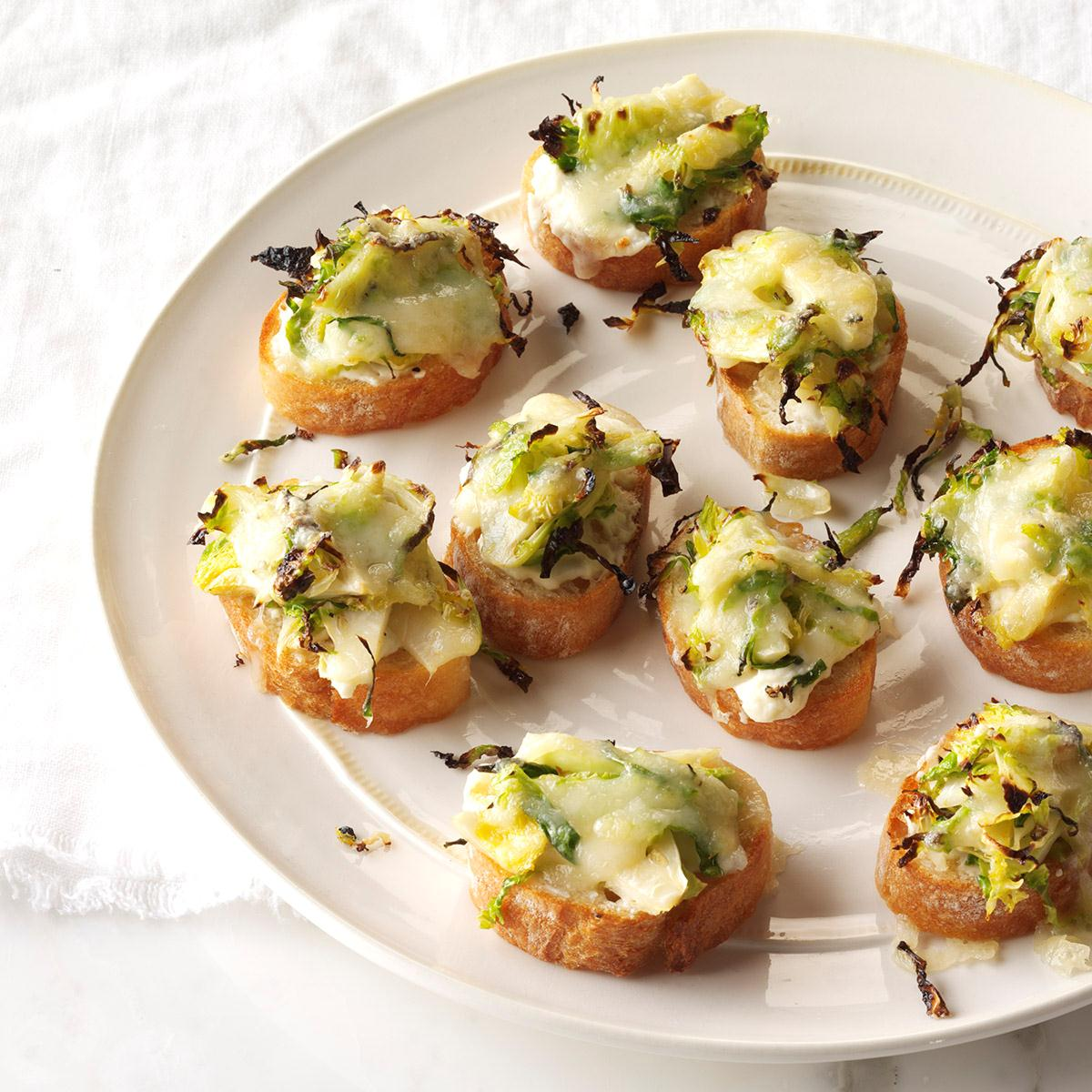 Roasted Brussels Sprouts & 3-Cheese Crostini_image