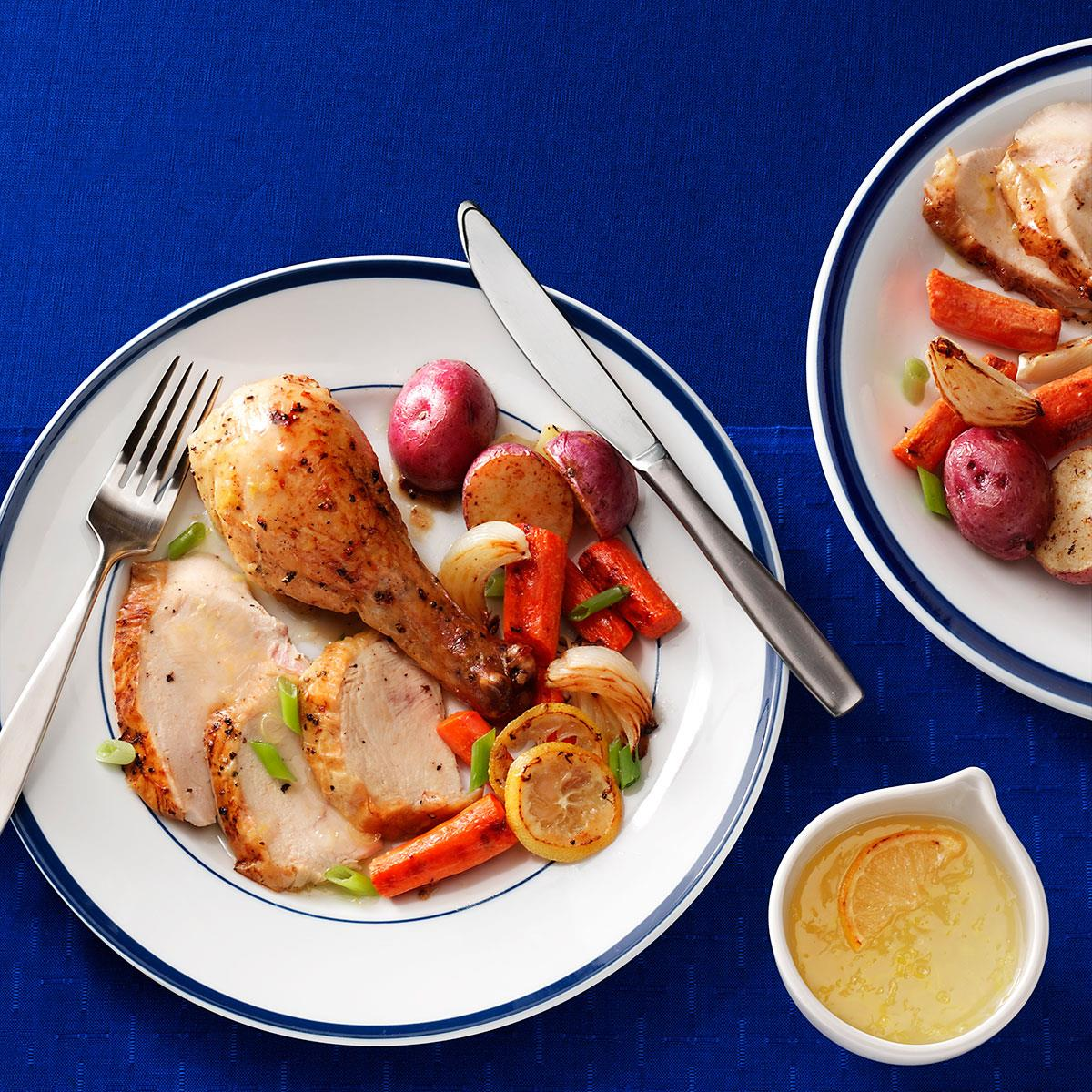Roasted Chicken with Lemon Sauce