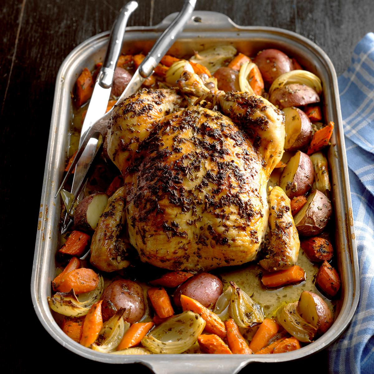 Roasted Chicken With Rosemary Recipe How To Make It Taste Of Home