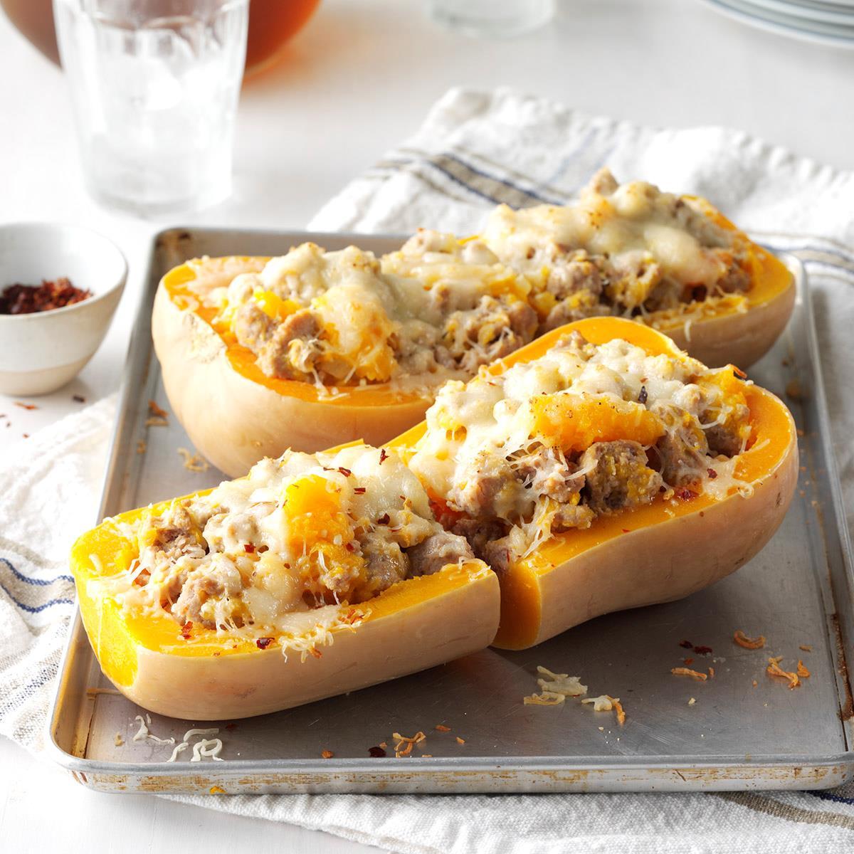 Sausage-Stuffed Butternut Squash image