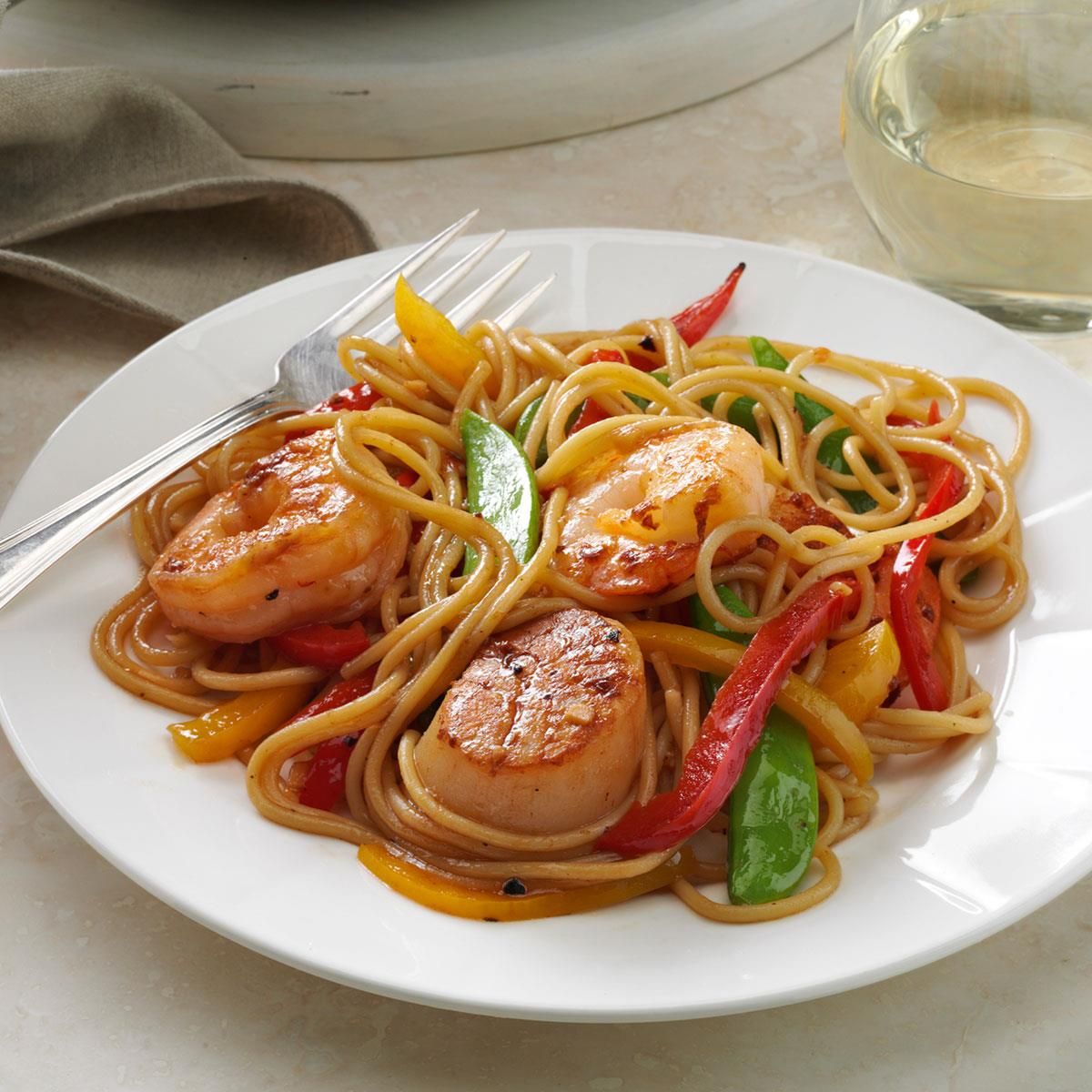 Seafood Pasta Delight image