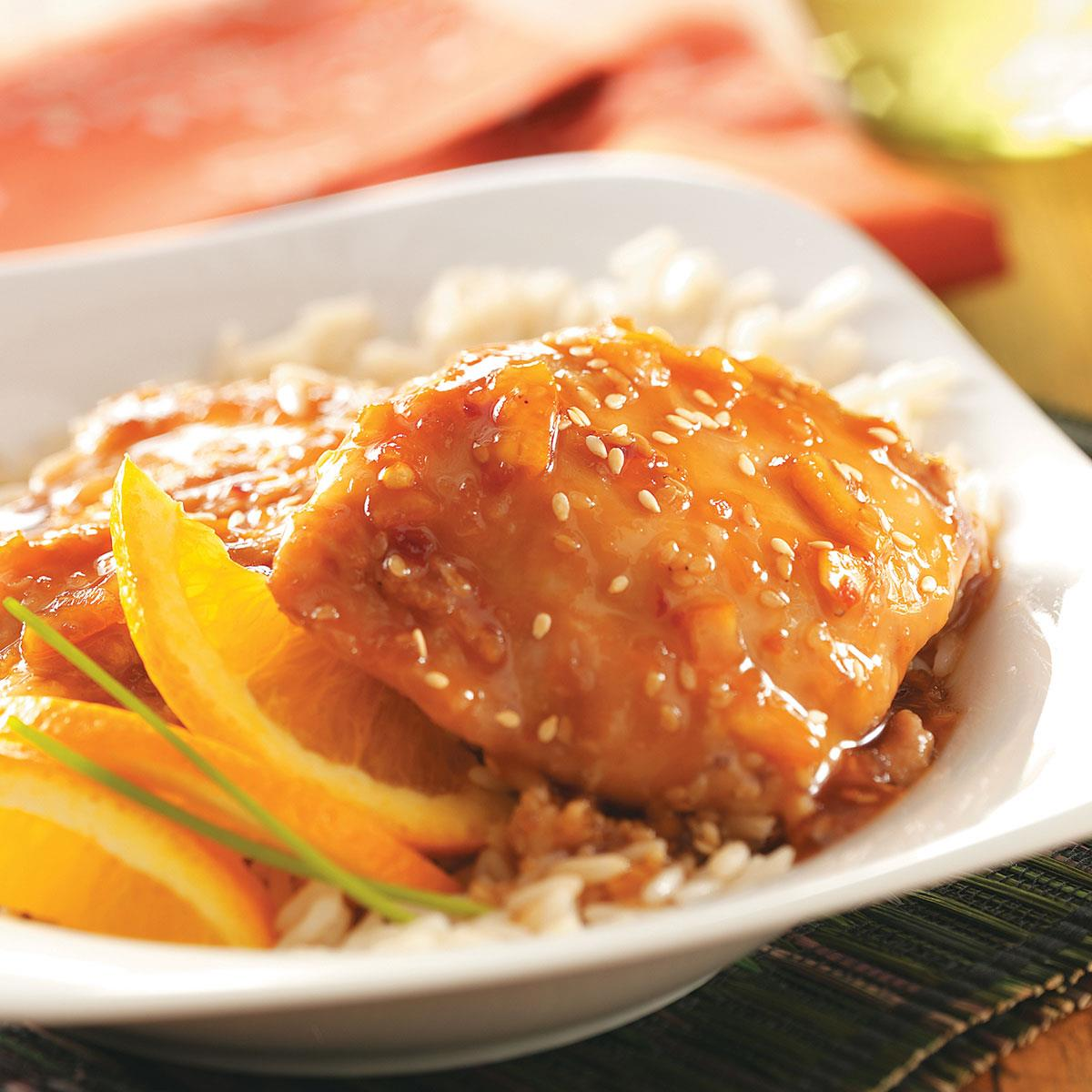 Sesame Orange Chicken Recipe How To Make It Taste Of Home