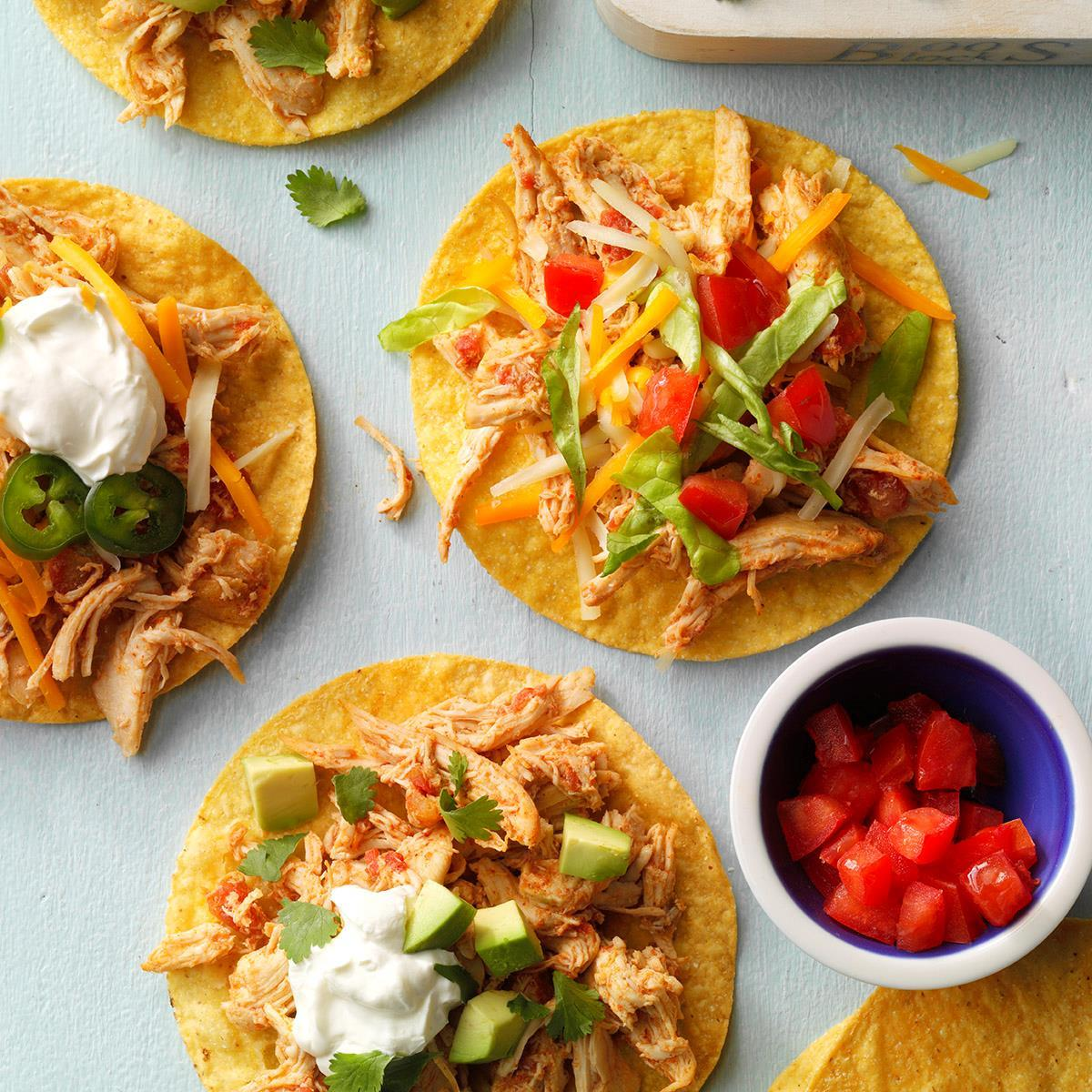 Shredded Chicken Tostadas Recipe How To Make It Taste Of Home