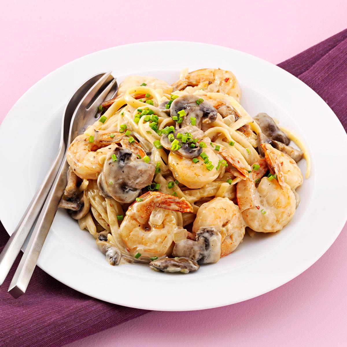 Shrimp Linguine with Parmesan Cream Sauce image