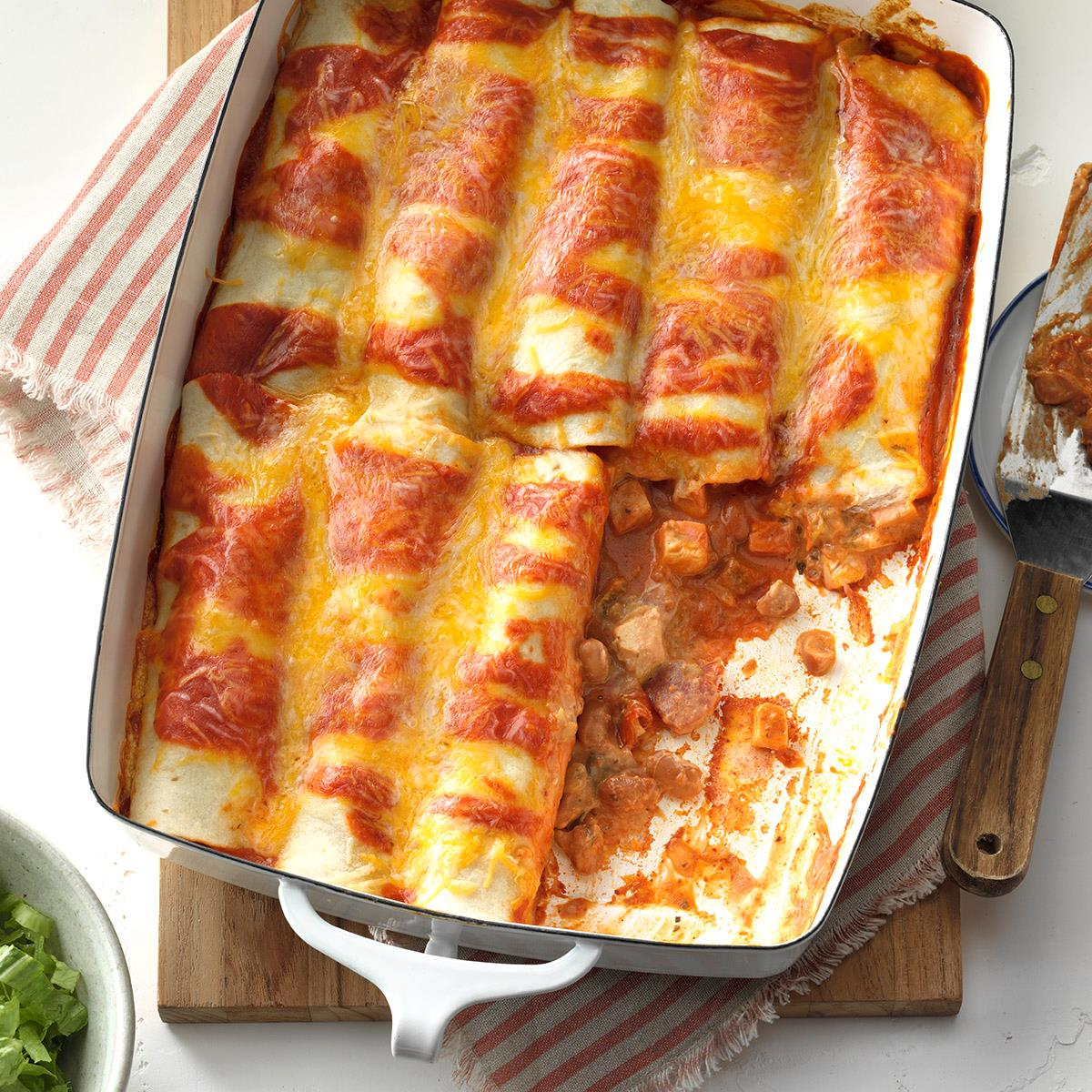 Simple Chicken Enchiladas Recipe How To Make It Taste Of Home