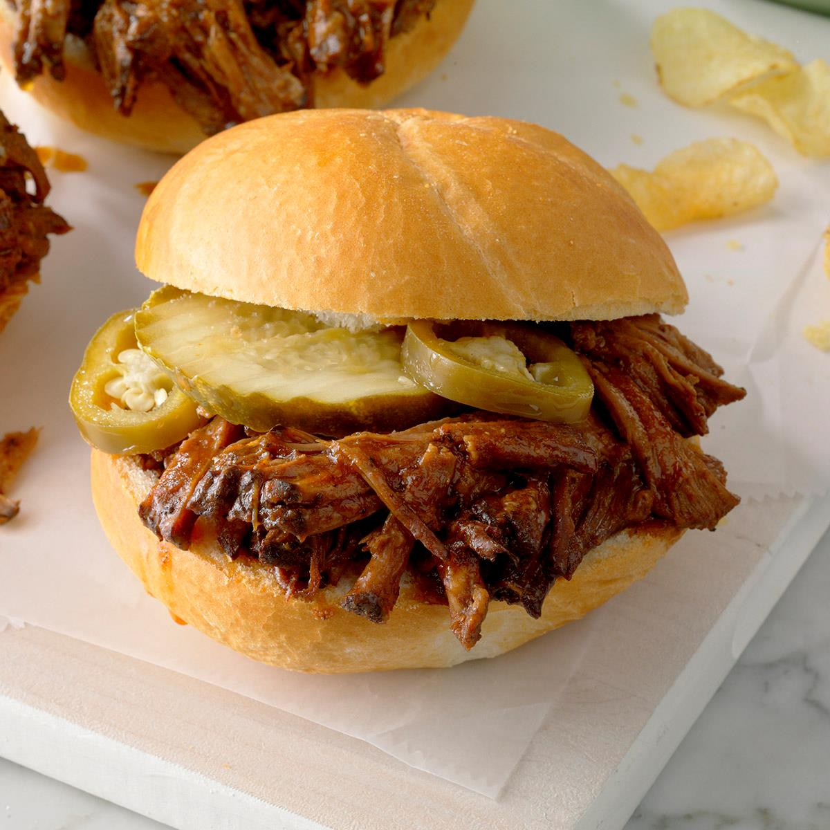 Slow-Cooked Barbecued Beef Sandwiches image