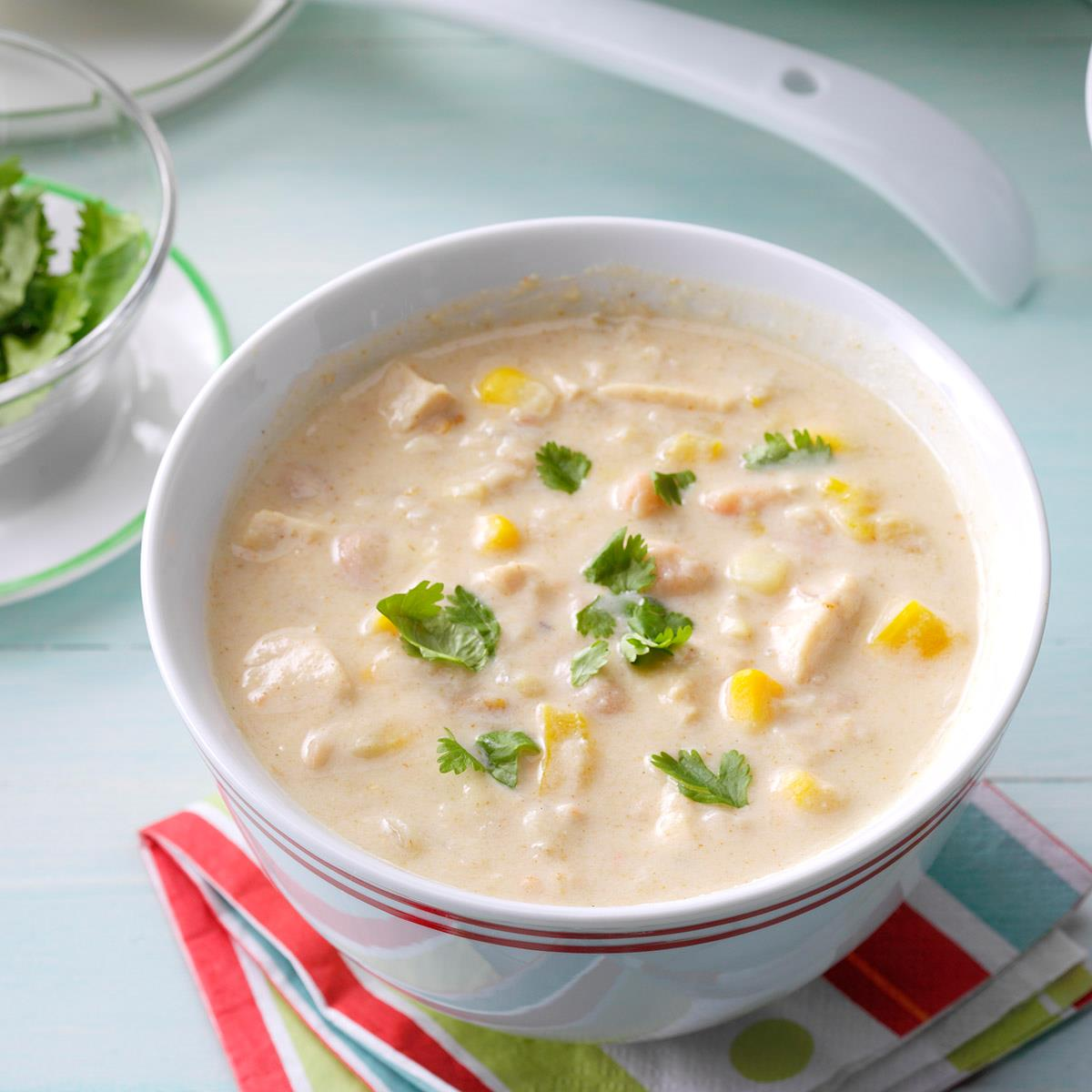 Slow Cooked White Bean Chili Recipe How To Make It Taste Of Home