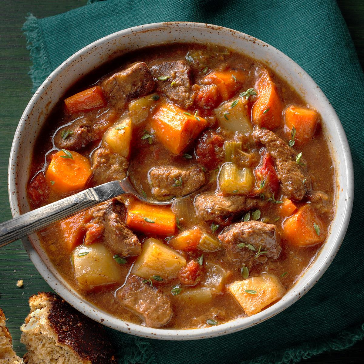 Slow Cooker Beef Stew Recipe How To Make It Taste Of Home