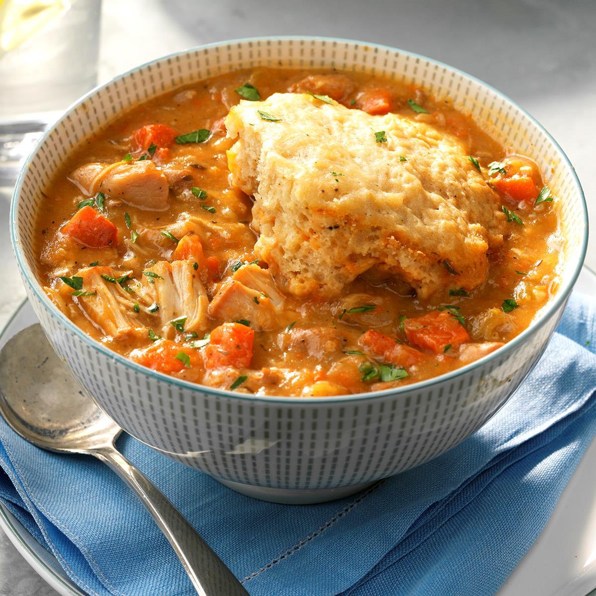 Chicken Stew With Dumplings Recipe