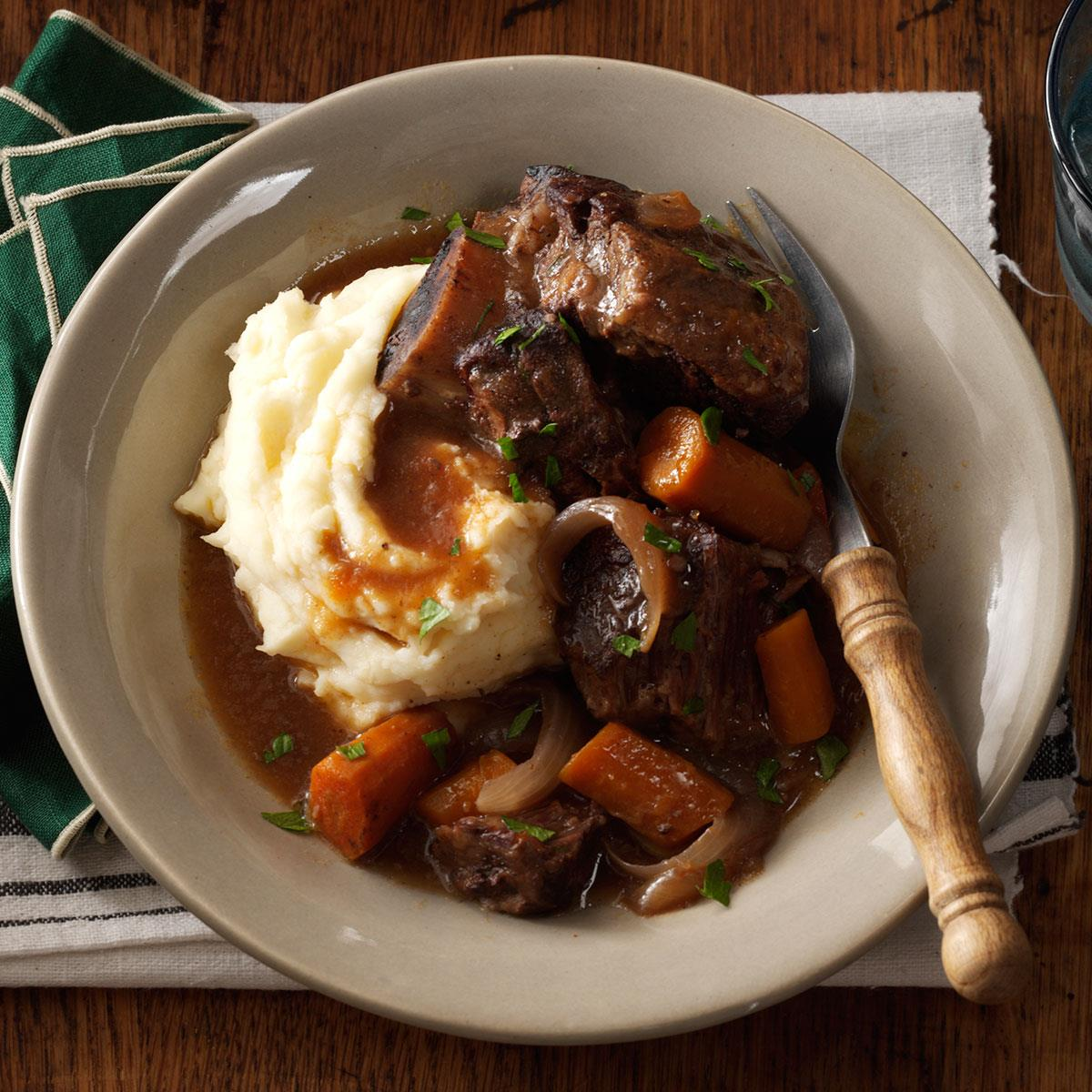 Braised Short Ribs Slow Cooker Recipe